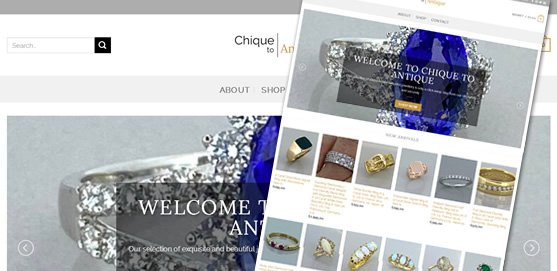 Chique to Antique Jewellery Website