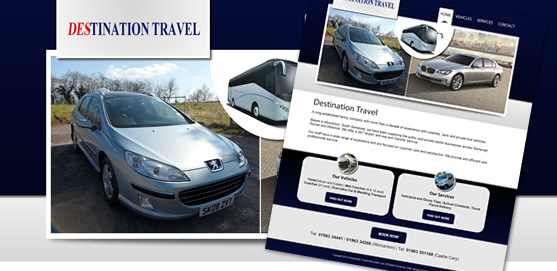 Destination Travel Wincanton, Website