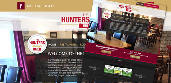 Hunters Lodge Inn, Wincanton, Website
